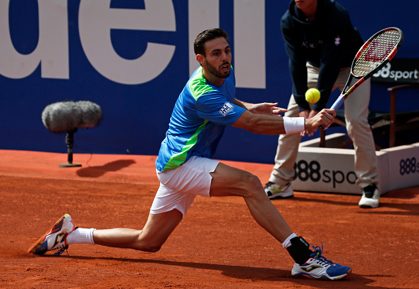 Marcel Granollers in action against Rafael Nadal at the Open Banc Sabadell (Photo: NurPhoto/Getty Images)
