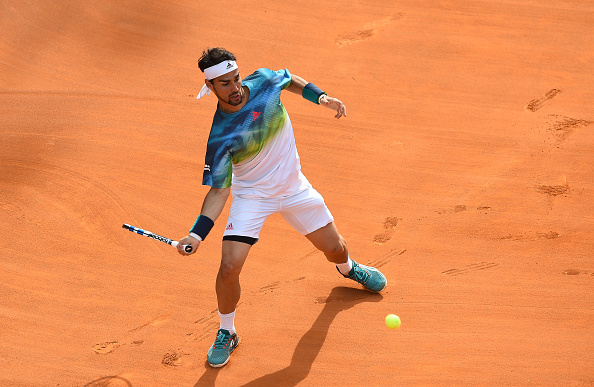 Fognini in action against Guillermo Garcia-Lopez at the Internazionali BNL d'Italia (Photo: Nur Photo/Getty Images)