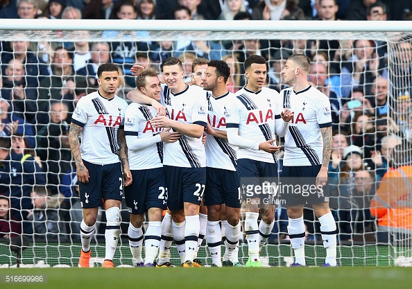 Tottenham celebrate another win against The Cherries (Photo: Getty images)