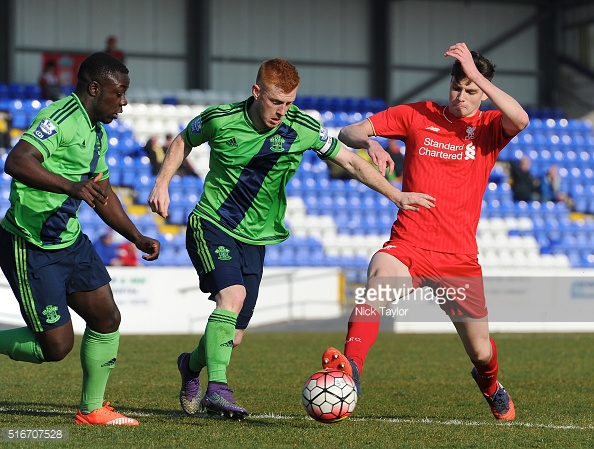 Reed and Olomola in action for the reserves. Photo:Getty