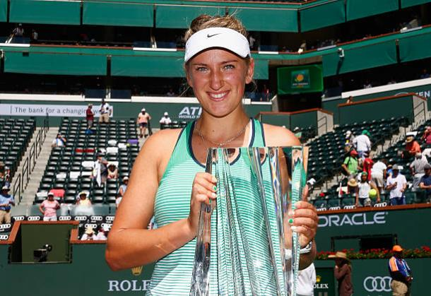 Victoria Azarenka beat Serena Williams to win the title in Indian Wells last year (Getty/Julian Finney)
