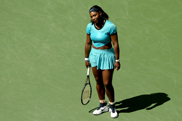 Serena Williams looks down after losing a point (Photo: Getty Images)