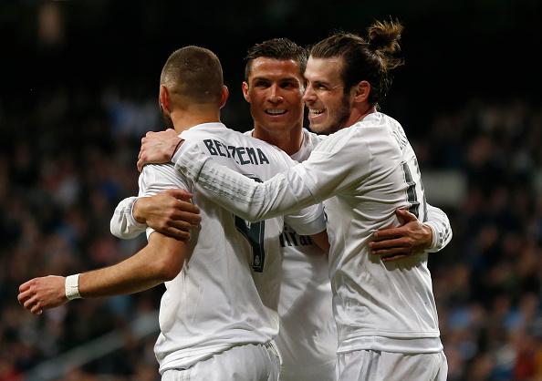 Trio BBC à disposição de Zidane para a partida | Foto: Getty Images