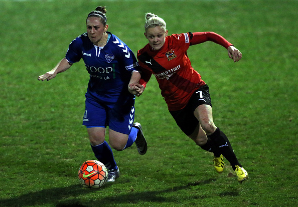 Ellie Gilliatt has been one of the stand-out performers for Sheffield this year, bombing on from the backline and always looking to cause problems (Photo credit: Nigel Roddis/The FA)