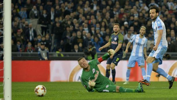 Parolo adelantó a la Lazio nada más empezar la segunda parte | Foto: SS Lazio