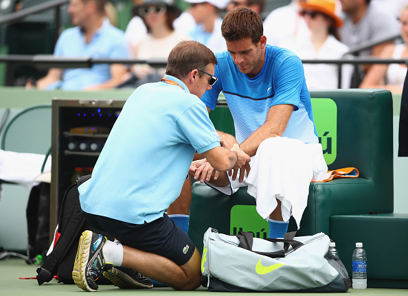 del Potro continues despite feeling pain on his left wrist | Photo courtesy of: Clive Brunskill/Getty Images