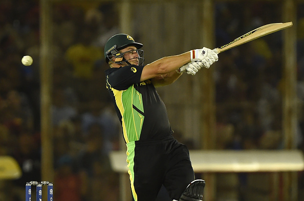 Aaron Finch made an explosive start for Australia (photo:getty)