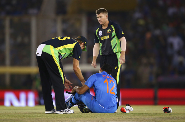 Yuvraj has been ruled out for the remainder of the tournament (photo:getty)