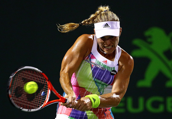 Kerber having to work hard in the second set | Photo courtesy of: Mike Ehrmann/Getty Images