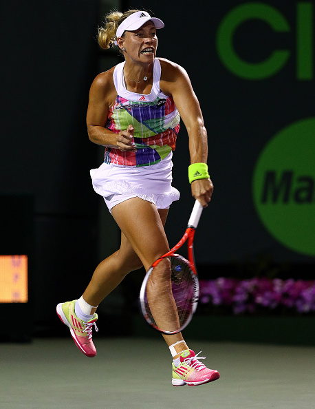 Kerber comes back to level the set before clinching victory | Photo courtesy of: Mike Ehrmann/Getty Images