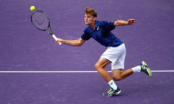David Goffin plays a forehand in Miami (Photo: Getty Images)