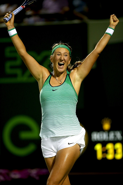 Elated Azarenka after coming through a tough match | Photo courtesy of: Clive Brunskill/Getty Images