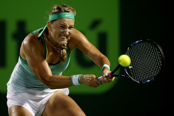 Azarenka batling hard turning up the aggression | Photo courtesy of: Matthew Stockman/Getty Images