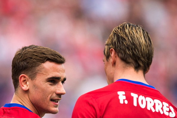 Atletico's top goal scorer Antoine Griezmann and Torres | Photo: Gonzalo Arroyo Moreno/Getty Images Sport