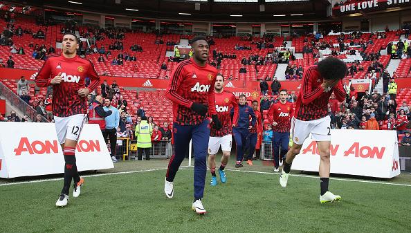 Chris Smalling, Timothy Fosu-Mensah, Marouane Fellaini | Photo: Tom Purslow/Man Utd/Getty Images Sport