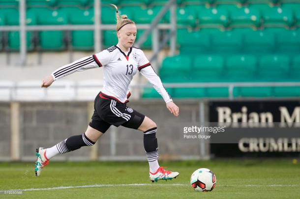 Anna Gerhardt will be hoping that her fine performance will be enough to warrant more apps for Bayern