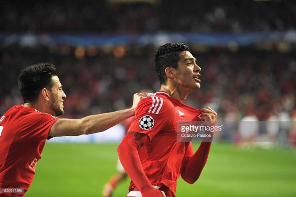 Jimenez marcou o 1º golo da partida