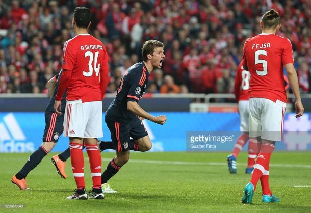 Muller fez o 2º golo do Bayern