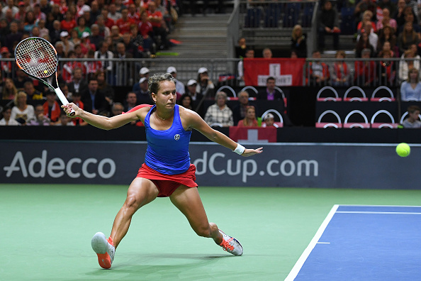 Strycova gave the Czechs the early lead. Photo credit: Valeriano Di Domenico/Getty Images.