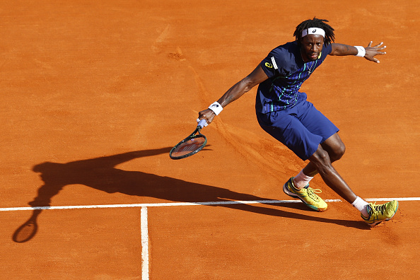 Monfils cruises through the first set   Photo: Valery Hache/Getty Images