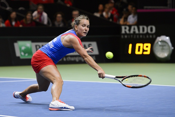 Strycova was unable to sustain her form throughout the match. Photo credit: Fabrice Coffrini/Getty Images.