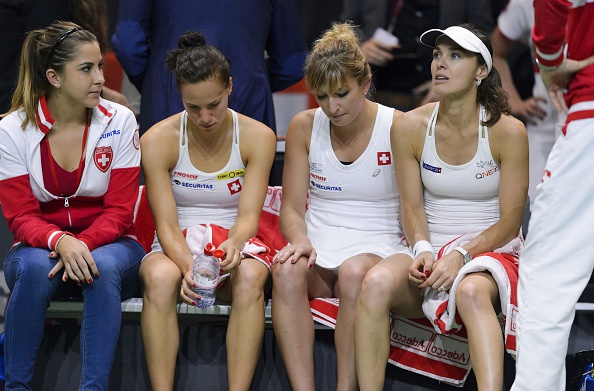 The Swiss team were in their first appearance in the World Group in more than 10 years. Photo credit: Fabrice Coffrini/Getty Images.