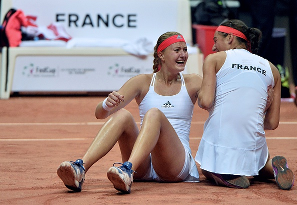 Tears of joy for the pair after an incredible victory | Photo: Jean-Francois Monier/Getty Images