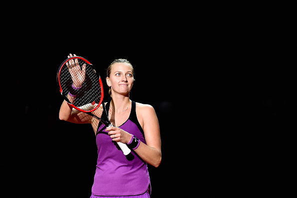 Kvitova acknowledges the crowd after her win. Photo credit: Dennis Grombkowski/Getty Images.