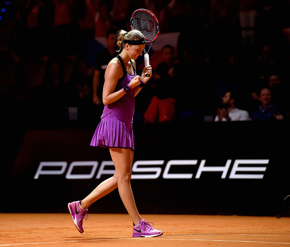 For the first time since 2012, Kvitova made the last four in Stuttgart, also her best result of 2016 so far. Photo credit: Dennis Grombkowski/Getty Images.