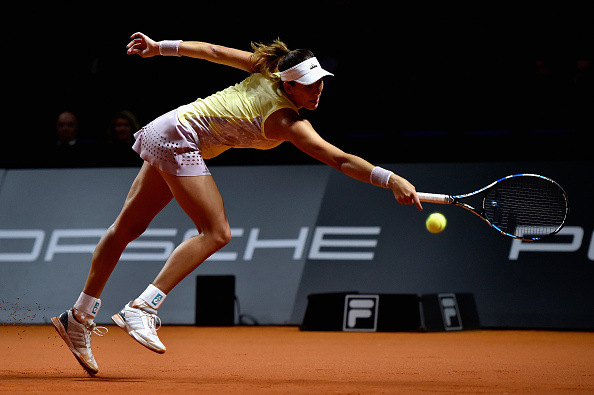 A focused and aggressive Muguruza levelled the match at one set apiece. Photo credit: Dennis Grombkowski/Getty Images.