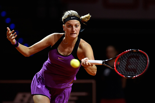 Kvitova played a clean opening set. Photo credit: Dennis Grombkowski/Getty Images.