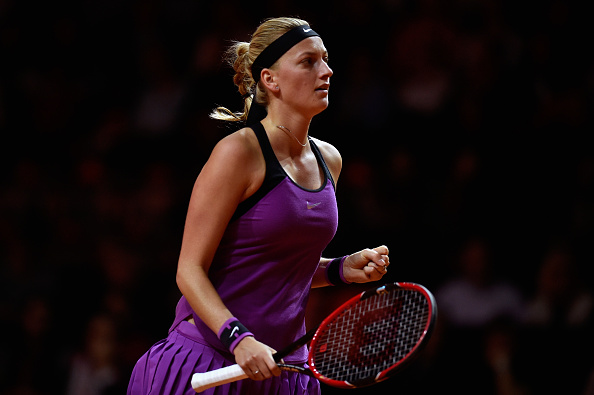 Kvitova in action at the Porsche Tennis Grand Prix in Stuttgart, where she recorded her first semifinal appearance of the year. Photo credit: Dennis Grombkowski/Getty Images.