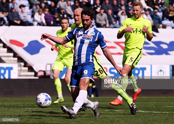 Grigg scored twice against Forest in August. (picture: Getty Images / Nigel Roddis)