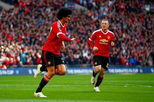Marouane Fellaini and Wayne Rooney | Photo: Julian Finney/Getty Images