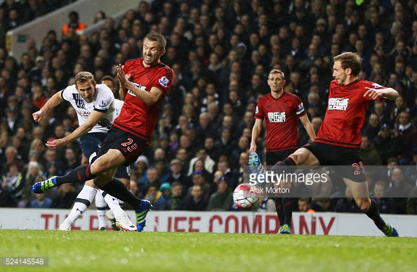 Spurs' title race was all but ended last year by West Brom. Photo: Getty