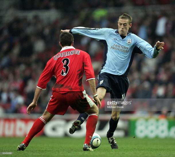 Current Stoke striker Peter Crouch in his Southampton days. Photo: Getty.