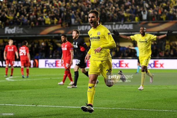 Adrian Lopez renovou a esperança do Villarreal ao minuto 92