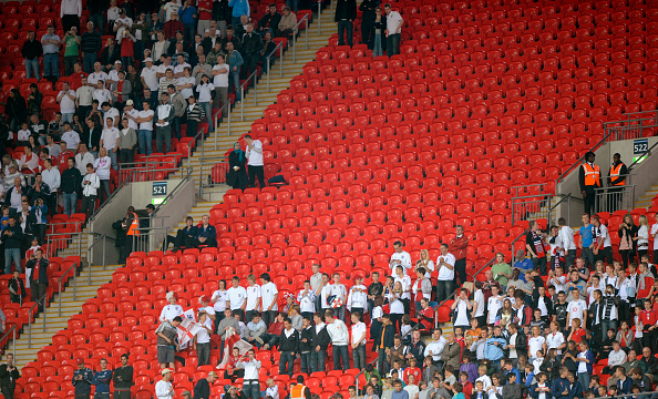 empty seats have epitomised England games at Wembley post-Brazil 2014 (photo:getty)