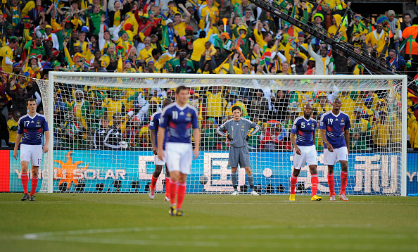Les Bleus once again failed to progress from the group stages in South Africa 2010 (photo:getty)