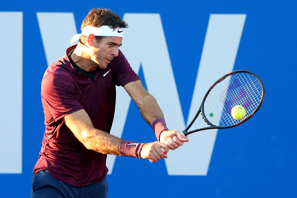 Del Potro broke for the first time for a comfortable lead in the second set | Photo: Alexander Hassenstein/Getty Images