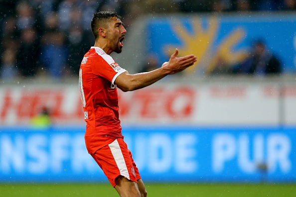 New signing Kerem Demirbay celebrates one of his many goals scored in a Fortuna Düsseldorf shirt last season. (Photo: Christof Koepsel/Bongarts/Getty Images)