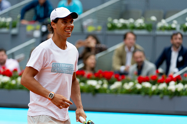 Nadal participates in a charity event at the 2016 Mutua Madrid Open. Credit:  Juan Naharro Gimenez/Getty Images