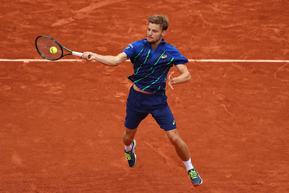 David Goffin hits a forehand shot (Photo: Julian Finney/Getty Images)