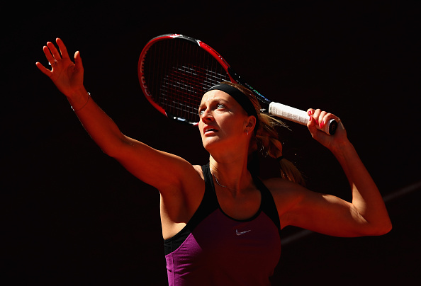 Kvitova in her opening match yesterday. Photo credit: Clive Brunskill/Getty Images.