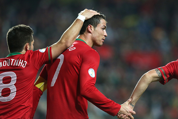 The on-pitch relationship between Joao Moutinho and Cristiano Ronaldo will be key for Portugal. (Photo: AOP.Press/Corbis via Getty Images)