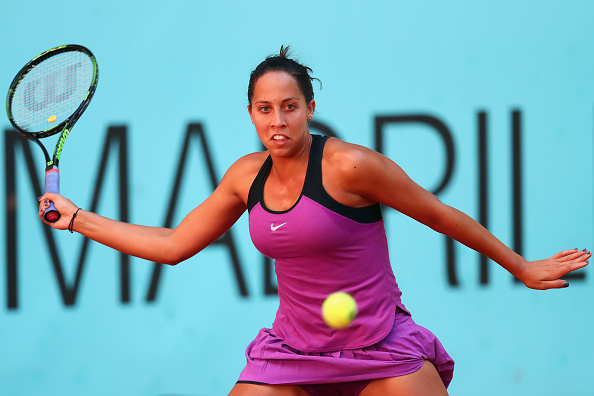 Keys in action at the Mutua Madrid Open last week. Photo credit: Julian Finney/Getty Images.