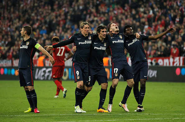Atletico Madrid players celebrating | Photo: Adam Pretty/Bongarts/Getty Images