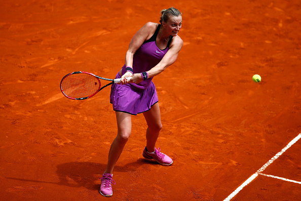 Kvitova was dealing with the after-effects of an abdominal injury sustained in Stuttgart. Photo credit: Julian Finney/Getty Images.