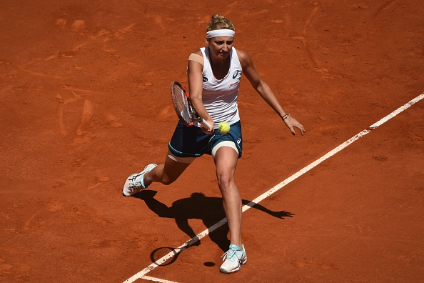 Bacsinszky in action in Rome | Photo: Pedro Armestre/Getty Images