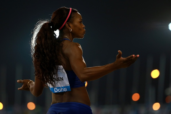 Caterine Ibarguen competes in the women's triple jump event at the Diamond League (Photo: Anadolu Agency/Getty Images)